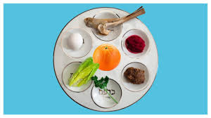 seder meal plate orange on the seder plate