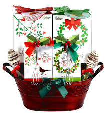 wreath of treats holiday cocoa and cookies gift basket