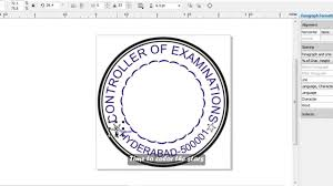 how to make a simple stamp in corel draw english subs youtube