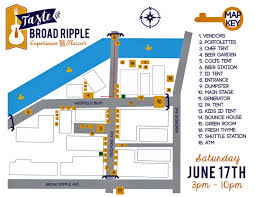 Map Indy Taste Of Broad Ripple June 16 2018 Indianapolis