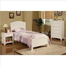 amazon com poundex 3 piece kids twin size bedroom set in white