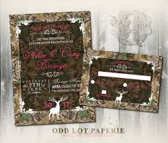 camo wedding invitations camo wedding invitation and rsvp set rustic wedding invitation