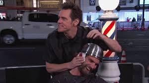 photos jim carrey gives out free terrible haircuts abc7 com