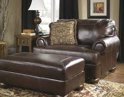 small leather chair with ottoman furniture large leather chair with throw pillow and rectangle