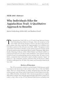 Appalachian Trail Massachusetts Map by Why Individuals Hike The Appalachian Trail A Qualitative Approach