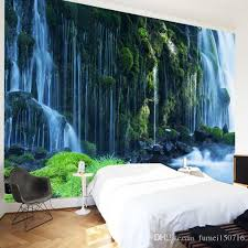 waterfall landscape mural wallpaper scenery wall