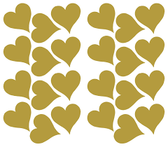 vinyl wall decals removable wall stickers hearts gold 3 roommates rmk3074scs gold heart peel and stick wall decals