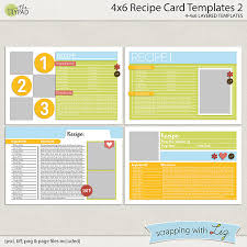 scrapping with liz new recipe cards and pages recyclables 46