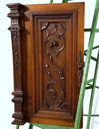 carved cabinet door panels cabinet door panel solid antique french gothic carved wood salvaged