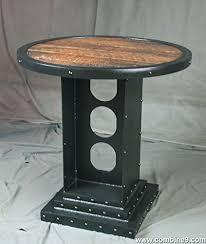 Reclaimed Wood Bistro Table Vintage Industrial Bistro Table Industrial
