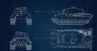 tiger ii h king tiger blueprints 4k tankporn
