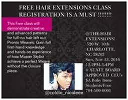 Hairstylist Classes The Weave And Extensions Salon Hair Classes Charlotte Nc