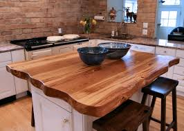 Natural Wood Kitchen Island by Natural Edges Wane Edges On Custom Wood Countertops And Table Tops