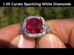 ebay rings vintage images Natural red ruby diamond ring vintage estate collection ebay jpg