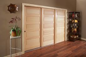 Closet Door Sliding Astonishing 3 Panel Sliding Closet Door 32 About Remodel Home