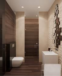 Stone Bathroom Designs Luxurious With Their Use Of Glossy Wood Accents And Beautiful