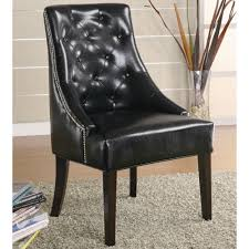 Upholstered Accent Chairs by Upholstered Accent Chair With Tufted Button Accents