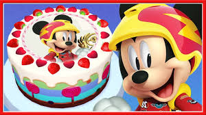 mickey u0026 the roadster racers birthday cake toddler learn cooking