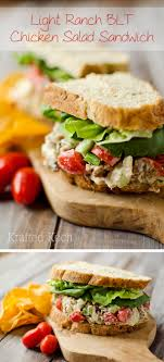 light ranch blt chicken salad sandwich and lunch ideas for work