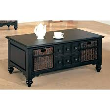 coffee table with baskets under end tables with electrical outlets elegant coffee table with baskets