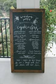 wedding program sign wedding program chalkboard modern calligraphy wedding