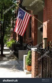 13 Stars In The United States Flag Betsy Ross Flag Waving On Street Stock Photo 34536664 Shutterstock