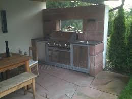 aussenküche bauanleitung napoleon außenküche in natursteinmauer gardelino de