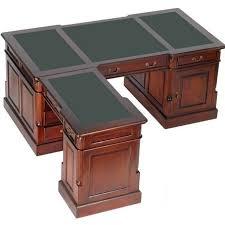 bureau en anglais bureau d angle style anglais victorien acajou plateau vert