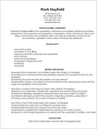 Highlights On A Resume Paralegal Resume Templates Professional Paralegal Resume Templates