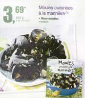moules cuisin馥s promotion moules cuisinees a la mariniere dans votre magasin lidl