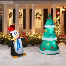 6 penguin tree decorating airblown inflatables