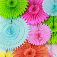 hanging paper fans diy party decor ideas paper fan backdrop paper hanging fans for