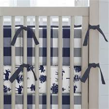 navy and white buffalo check crib skirt single pleat carousel