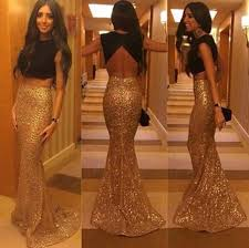 great gatsby inspired prom dresses sparkly mermaid prom gowns 2017 fashion two pieces backless