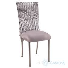 chair cover chameleon chair chagne fanfare silver punchout chair cover
