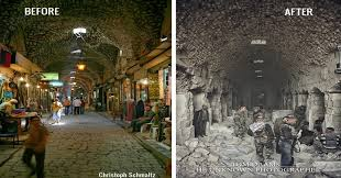 syria before and after these pictures will reveal what war can do to a beautiful city