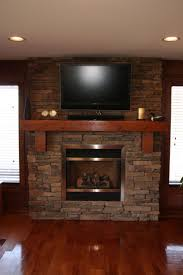 Laminate Wood Floor Decorations Stunning Stone Fireplace With Wooden Mantel Shelves