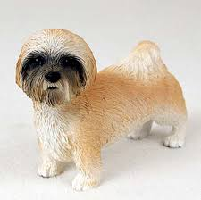 lhasa apso painted collectible figurine brown sport