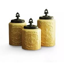 new american atelier canisters cream antique set of 3 cream