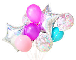 balloon delivery island gold balloons balloon bouquet bundle with confetti