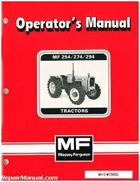 massey ferguson mf254 274 294 operators manual ebay