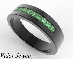 mens black rings black gold emerald ring for him custom bridal jewelry vidar