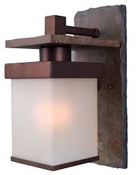 Copper Wall Sconce Kenroy Home 70283cop Boulder Medium Wall Lantern Natural Slate