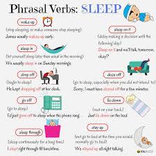 useful phrasal verbs in english sleep esl buzz