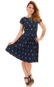 1950s inspired cute summer tea dress with vintage style all over