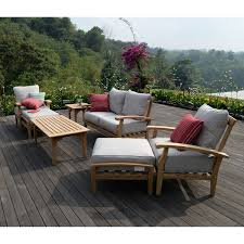 Sams Club Patio Sets by Joshua Lane Teak Outdoor 7 Pc Patio Seating Set It 61049t Boutiqify