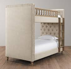 Chesterfield Tufted Bunk Bed - Upholstered bunk bed
