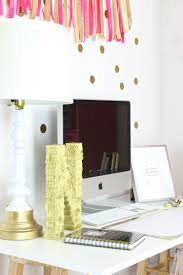 My Gold Desk Pink And Gold Gorgeous Office Nook Classy Clutter