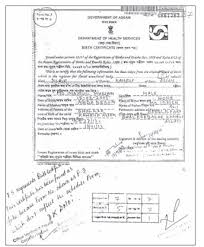 fake birth certificate lakhs of fake birth certificates in nrc 273 arrested
