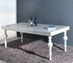 Gloss Dining Tables Transitional White High Gloss Dining Table